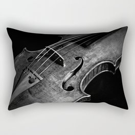 Black and White Violin Rectangular Pillow