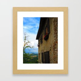 Shutters of Tuscany Framed Art Print
