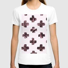 Rosewood velvet gem - scandinavian cross T-shirt