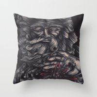 atheist Throw Pillows featuring Jaded Art by Jaded Art    By James Schreck