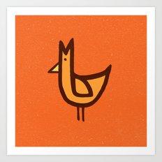 Chicken Print Art Print