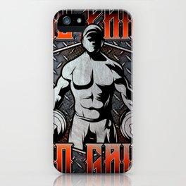 Bodybuilder, GYM pain & gain iPhone Case