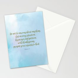 Do Not Be Anxious, Philippians 4:6 Stationery Cards