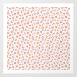 Colourful Floral Pattern Art Print