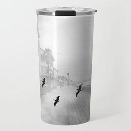 """Birds of a Feather"" Holga Double Exposure in San Diego, California Travel Mug"
