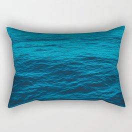 water surface, Blue ocean waves - deep blue sea Rectangular Pillow