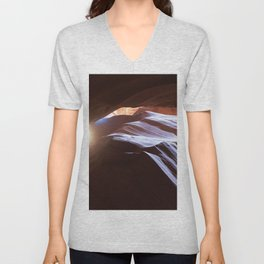 Sun Overhead in Lower Antelope Canyon, Arizona Unisex V-Neck