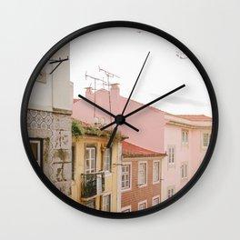 Pastel Neighbourhood Wall Clock