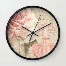 Perfume and Roses I Wall Clock
