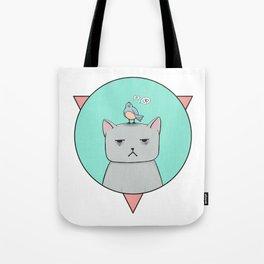 Depressive cat Tote Bag