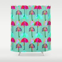 umbrella Shower Curtains featuring Umbrella  by Ingrid Castile
