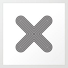 Letter X Art Print