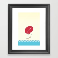 help! Framed Art Print
