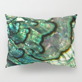 Shimmering Green Abalone Mother of Pearl Pillow Sham