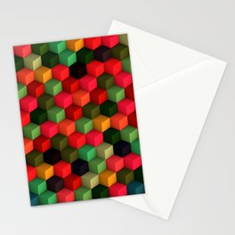 3D Cubes  Stationery Cards