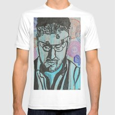Paisley -- David Foster Wallace  White MEDIUM Mens Fitted Tee