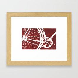 Dark Red Bike Framed Art Print