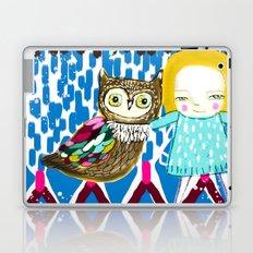 owl and girl love Laptop & iPad Skin