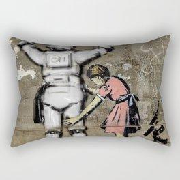 Girl and clone Rectangular Pillow