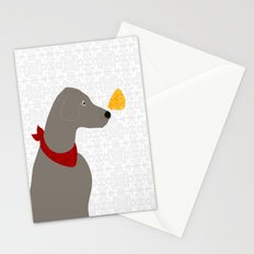 Weimaraner Dog with butterfly Stationery Cards