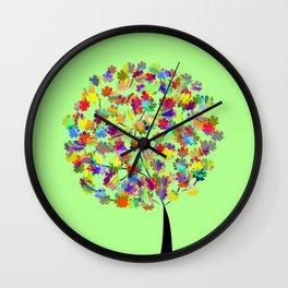 Tree of colors Wall Clock