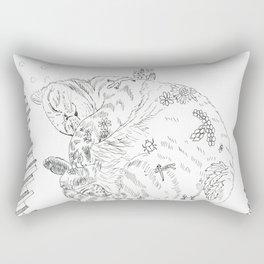 cat and piano Rectangular Pillow