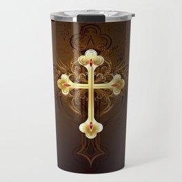 Golden Cross Travel Mug
