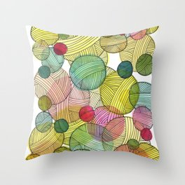 Yarn Stash Throw Pillow