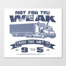 TRUCKER DRIVER Canvas Print