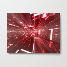 Ruby Tunnels Metal Print