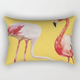 Bold Flamingo Caribbean and Tropical inspired design Rectangular Pillow
