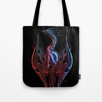 phoenix Tote Bags featuring Phoenix by Giorgio Finamore