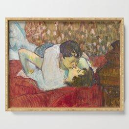 "Henri de Toulouse-Lautrec ""In Bed. The Kiss"" Serving Tray"