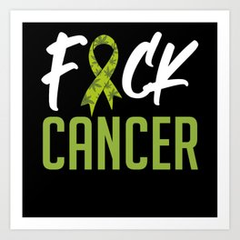 Fuck Cancer Lets Fight And Raise Cancer Art Print