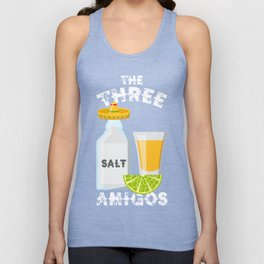 The Three Amigos Salt Tequila & Lime Funny Cinco De Mayo Design Unisex Tank Top