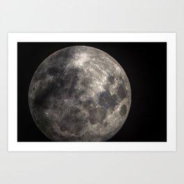 Full Harvest moon Art Print