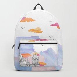 Berlin Cathedral (Berliner Dom) daytime. Backpack