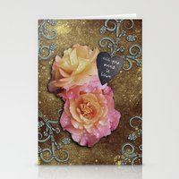 all you need is love Stationery Cards featuring All You Need is Love by Joke Vermeer