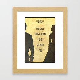 God Only Knows - Bioshock Infinite Poster Framed Art Print