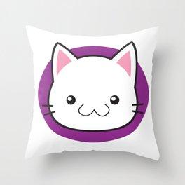 Love Cats: White Shorthair Cat Throw Pillow