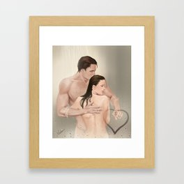 steamy picture Framed Art Print