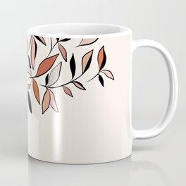 Minimal line Art botanical Portrait Coffee Mug
