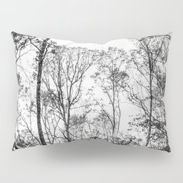 Black and white tree photography - Watercolor series #5 Pillow Sham