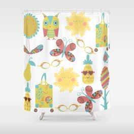 Travel pattern 2u Shower Curtain
