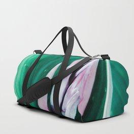 Pink Banana Flower Duffle Bag