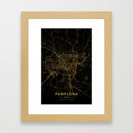 Pamplona, Spain - Gold Framed Art Print