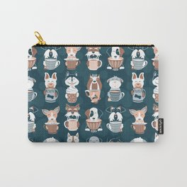Doggie Coffee and Tea Time II Carry-All Pouch