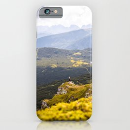 On edge of the cliff iPhone Case
