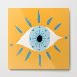 Mesmerized by the Eye Metal Print