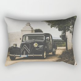 French car, fine art photography, Traction Avant, old auto, classic car, supercar, old car print Rectangular Pillow